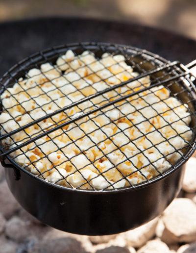 poele à pop corn pour bain nordique nordikspa